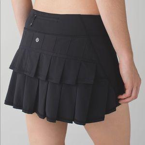 lululemon    Pace Setter Skirt Skort Black 10 Tall